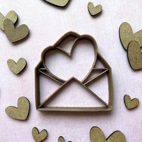 Envelope heart cookie cutter