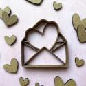 Emporte-pièce Enveloppe Coeur