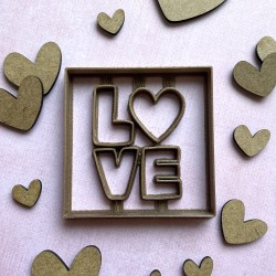 Love heart cookie cutter - Square