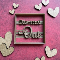 Dis-moi oui wedding cookie cutter - Square