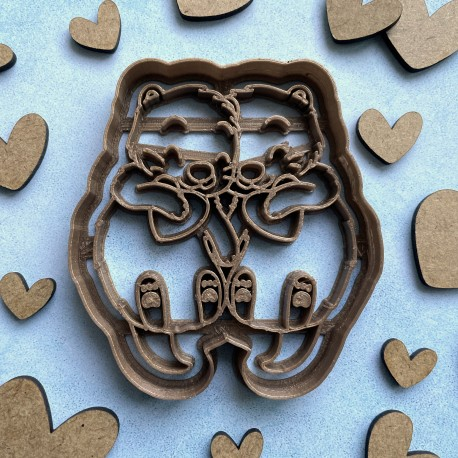 Loving otters cookie cutter