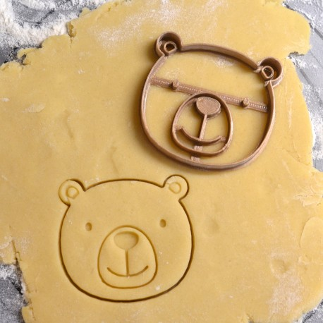 Head Bear cookie cutter