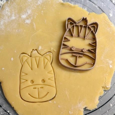 Zebra cookie cutter
