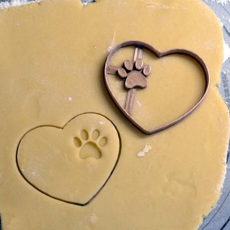 Emporte-pièce Coeur Patte de chien
