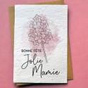Carte ensemencée Jolie Mamie