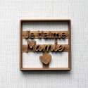 Je t'aime Mamie Cookie Cutter