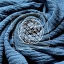 Embosseur Coeur Fleur de vie - Tampon Pâte à sucre