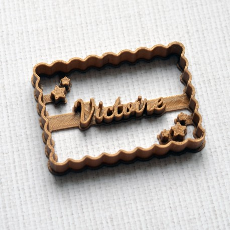 Petit Beurre Custom cookie cutter with name and star - Personalized