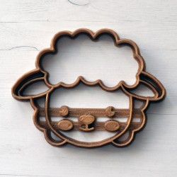 Sheep cookie cutter