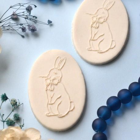Embosseur Lapin Vintage - Tampon Pâte à sucre Pâques