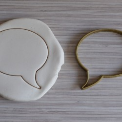 Comic bubble cookie cutter