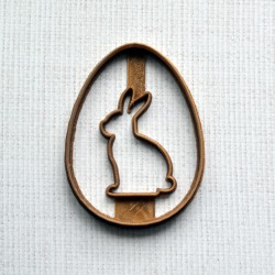 Rabbit Easter egg cookie cutter