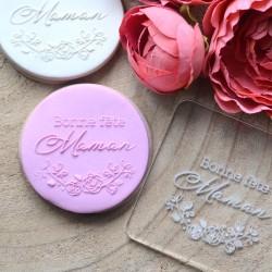 Fondant Embosser Bonne fête Maman Roses - Mother's day