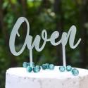 Cake Topper Prénom - Acrylique