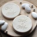 Mr & Mrs Fondant Embosser - Wedding cookie stamp