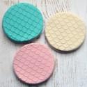 Embosseur Sirène - Tampon Pâte à sucre écailles de sirène