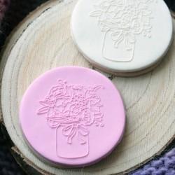 Embosseur Bouquet de fleurs - Tampon Pâte à sucre Fleur