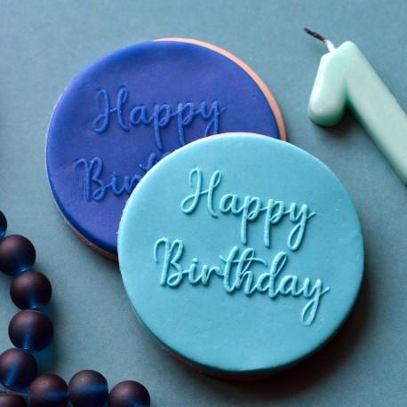 Embosseur Happy Birthday - Tampon Pâte à sucre