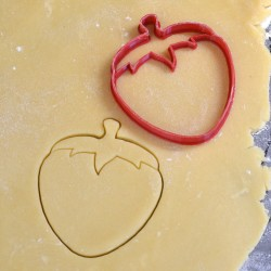 Strawberry cookie cutter