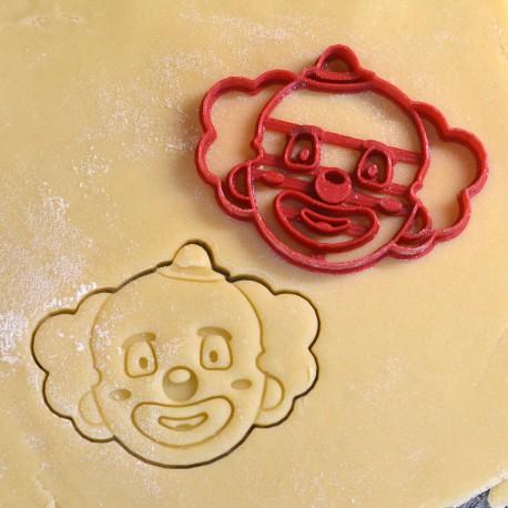 Clown cookie cutter