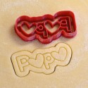 Papa cookie cutter