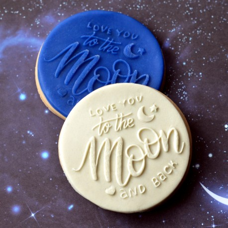 Embosseur To the moon and back - Tampon Pâte à sucre