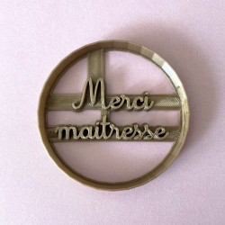 """""""Merci Maitresse"""" cookie cutter - Teacher's Day"""