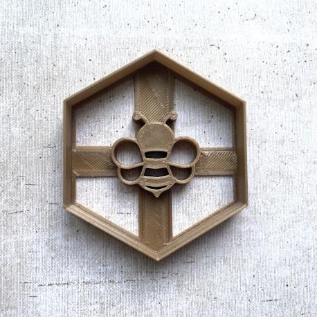 Emporte-pièce Abeille et hexagone