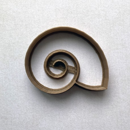 Shell cookie cutter - snail shell cookie cutter