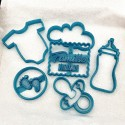 Baby Shower cookie cutters - Set of 6