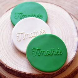 Embosseur Personnalisé - Tampon Pâte à sucre personnalisé