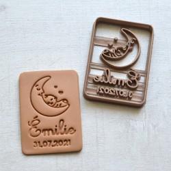 Custom Baby Moon cookie cutter