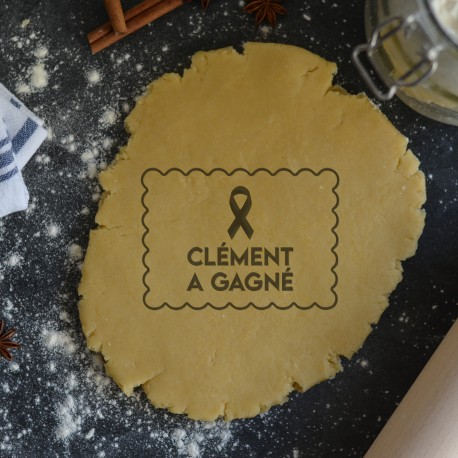 Petit Beurre Custom cookie cutter with name and ribbon - Personalized