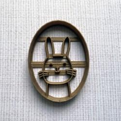 Medallion Rabbit cookie cutter