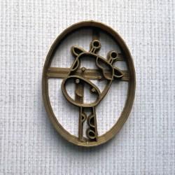 Medallion giraffe cookie cutter
