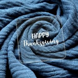 Embosseur Happy Thanksgiving - Tampon Pâte à sucre Thanksgiving