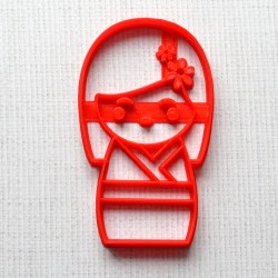 Kokeshi Japanese doll cookie cutter