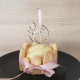 Cupcake topper personnalisé en bois