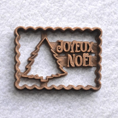 """Petit Beurre """"Joyeux Noël"""" cookie cutter with christmas tree"""