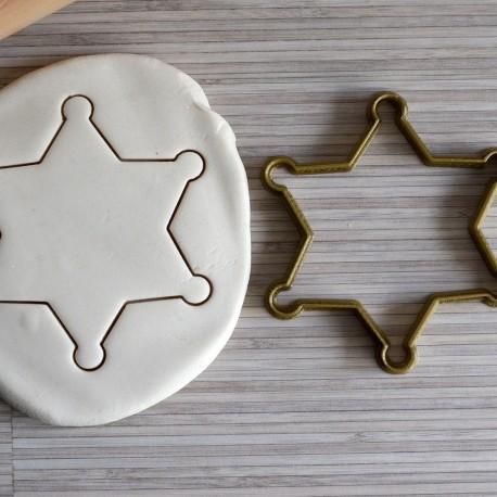 Emporte-pièce en forme d'étoile de shérif