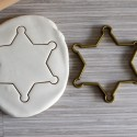 Sheriff star cookie cutter