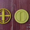 Golden Coin cookie cutter