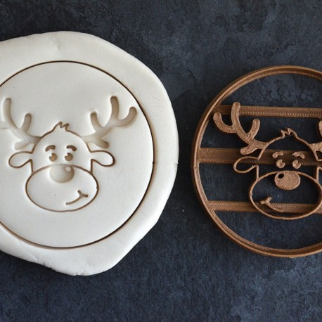 Santa Reindeer cookie cutter