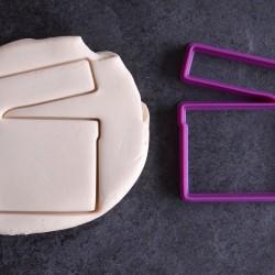 Movie clap cookie cutter