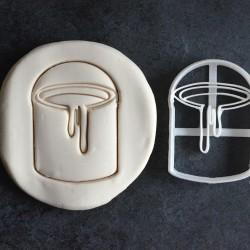 Emporte-pièce en forme de pot de peinture