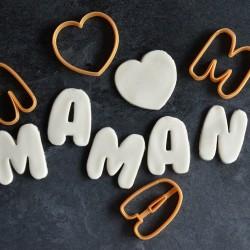 Emporte-pièce Maman - Fête des mères - 4 pièces