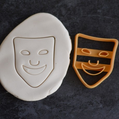Theater mask cookie cutter