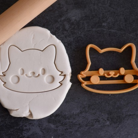 Cute Cat / Fox cookie cutter