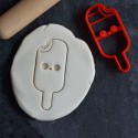 Kawaii Popsicle cookie cutter