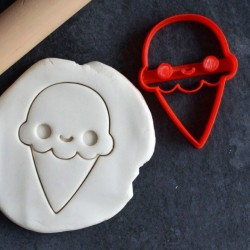 Kawaii Ice cream cookie cutter
